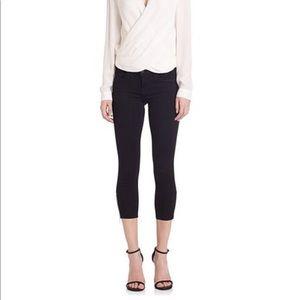 L'Agence Emmanuelle MidRise Skinny Crop Jeans Noir